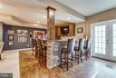 Custom Built Wet Bar with Granite Counters - 41848 RAWNSLEY DR, ASHBURN