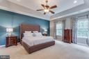 Master Suite with Tray Ceiling - 41848 RAWNSLEY DR, ASHBURN