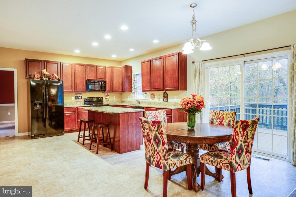 Look at the views from the kitchen to the deck - 2521 REGENCY DR, FREDERICKSBURG