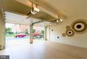 Garage interior with special floor and wall paint. - 18332 BUCCANEER TER, LEESBURG