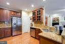 Kitchen also boasts stainless appliances - 18332 BUCCANEER TER, LEESBURG
