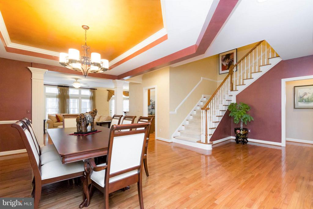 Take the steps to the two upper levels. - 18332 BUCCANEER TER, LEESBURG