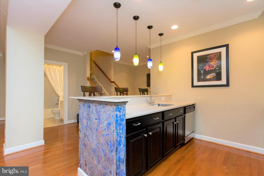 From the upper level head down to the lower level - 18332 BUCCANEER TER, LEESBURG