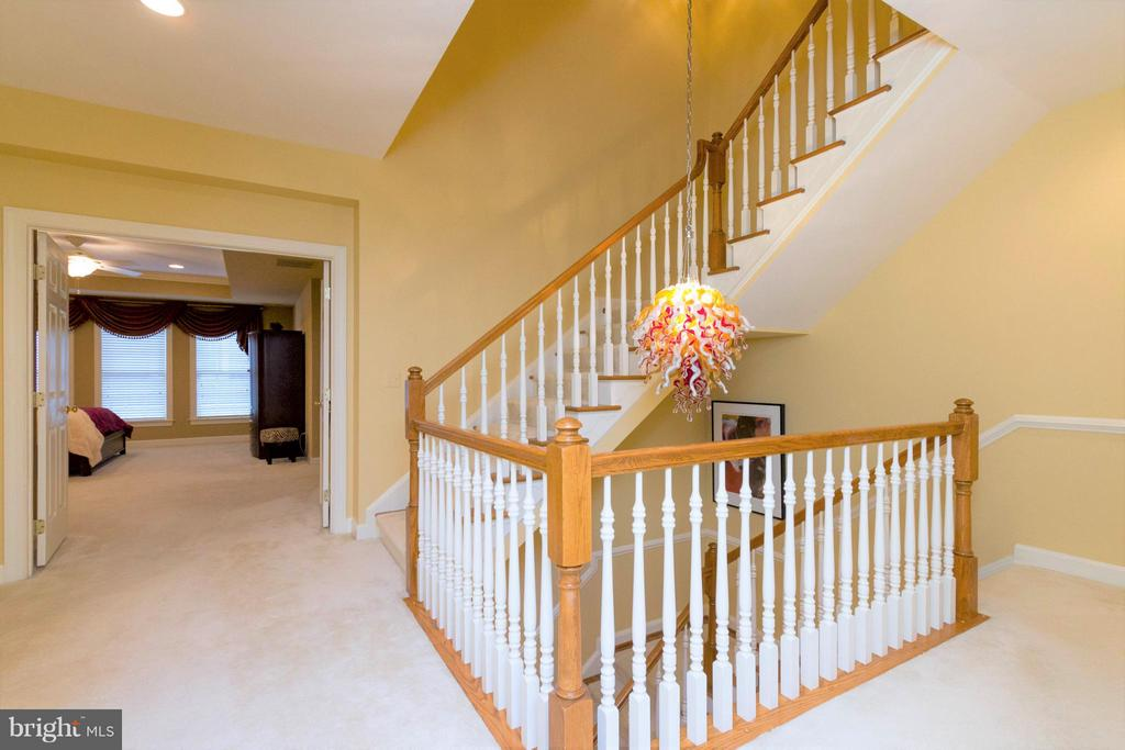 Take the stairs to the 2nd upper level. - 18332 BUCCANEER TER, LEESBURG