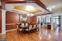 Hardwood floors are throughout the main level. - 18332 BUCCANEER TER, LEESBURG