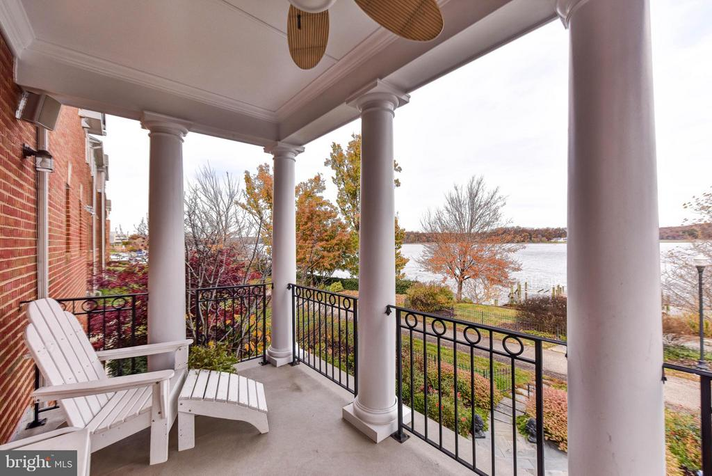 Master Suite waterfront balcony - 472 BELMONT BAY DR, WOODBRIDGE