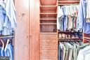 Finely appointed master closet - 472 BELMONT BAY DR, WOODBRIDGE