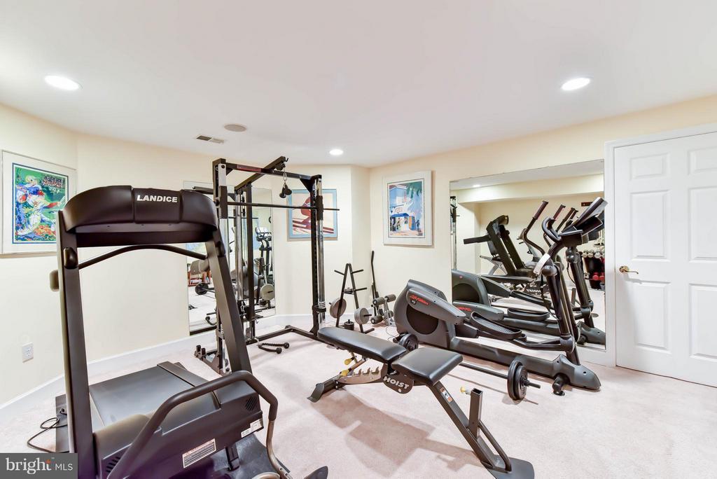 Lower level gym - 472 BELMONT BAY DR, WOODBRIDGE