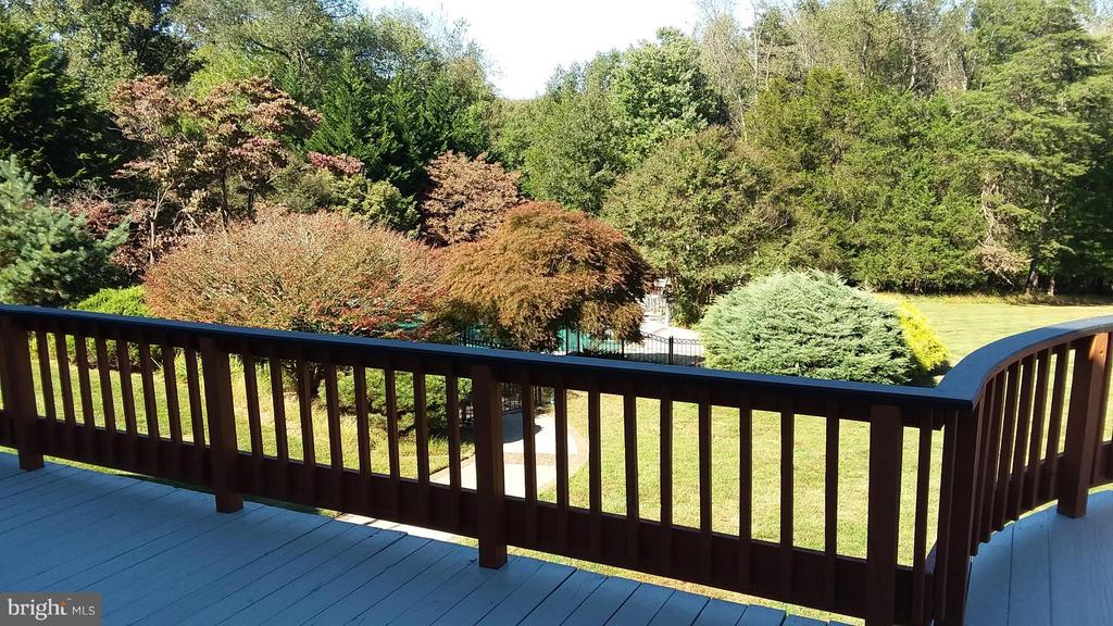 Deck view of pool area - 13110 CEDAR RIDGE DR, CLIFTON