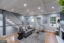 Living room w/ coffered ceilings - 1516 44TH ST NW, WASHINGTON