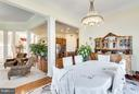 Second Dining  / Breakfast Room - 7202 GRAY HEIGHTS CT, ALEXANDRIA