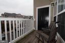 Balcony off of family room - 507 SUNSET VIEW TER SE #308, LEESBURG