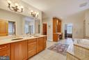 Huge bathroom with 3 walk-ins. - 22329 ROLLING HILL LN, GAITHERSBURG