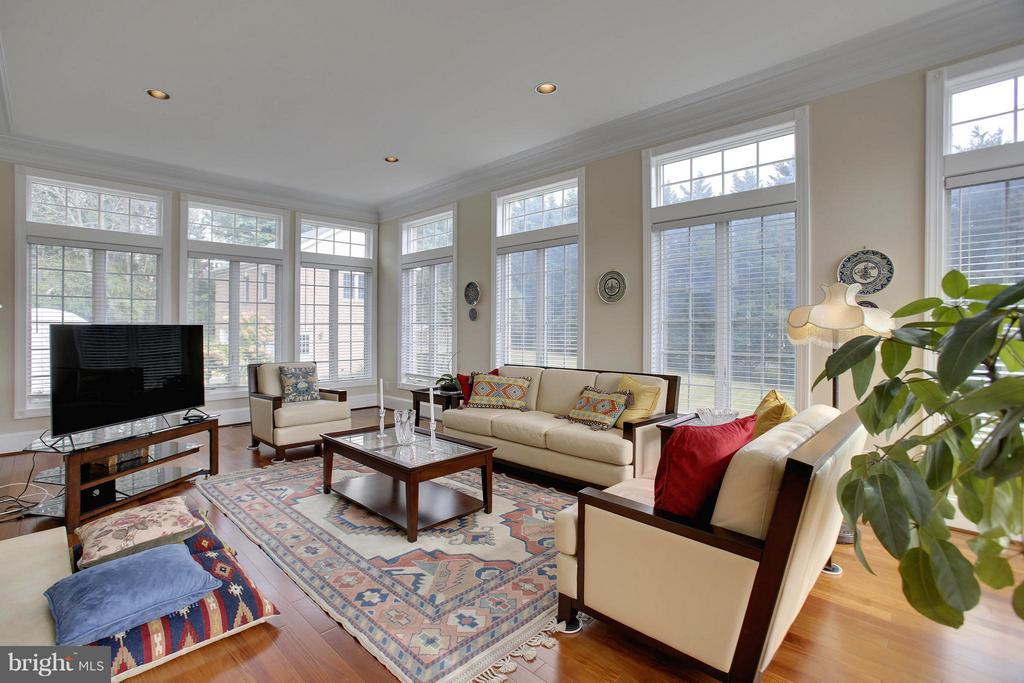 Large yet cozy sunrm w. wall of windows/fireplace. - 22329 ROLLING HILL LN, GAITHERSBURG