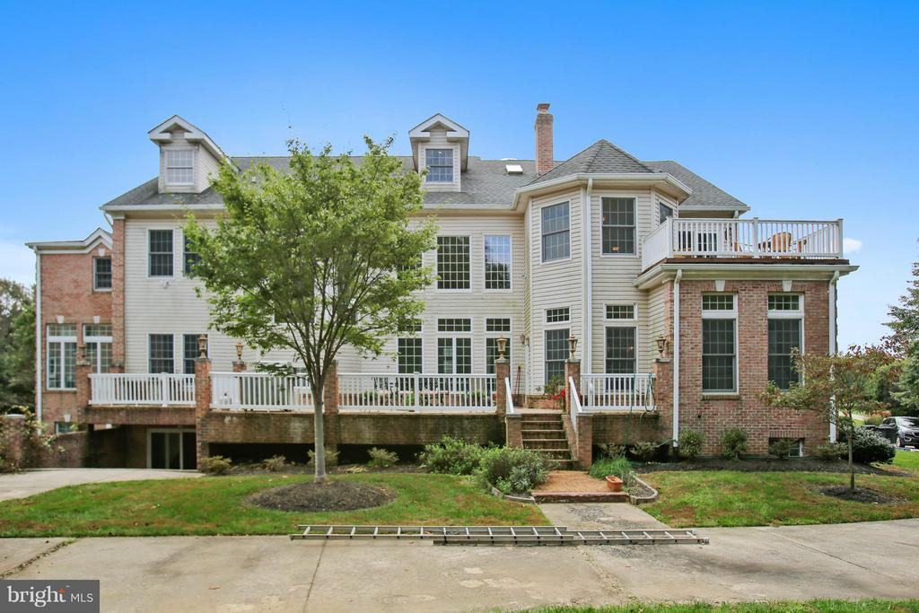Relax on the deck off master bedroom. - 22329 ROLLING HILL LN, GAITHERSBURG
