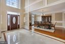 Two story foyer with marble floors. - 22329 ROLLING HILL LN, GAITHERSBURG