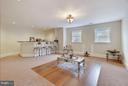 Party room with dishwasher/wine cooler/friger. - 22329 ROLLING HILL LN, GAITHERSBURG