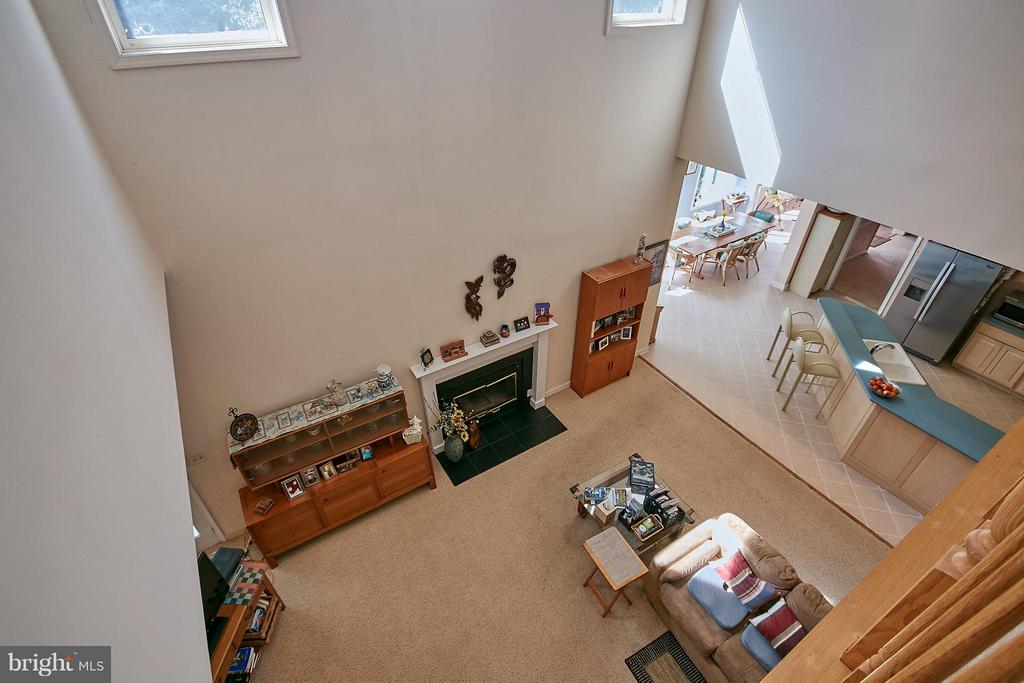 View from the Upper Level to Lower Level - 6515 MILLER DR, ALEXANDRIA