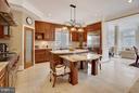 Marble floors. breakfast bar, pantry. - 22329 ROLLING HILL LN, GAITHERSBURG