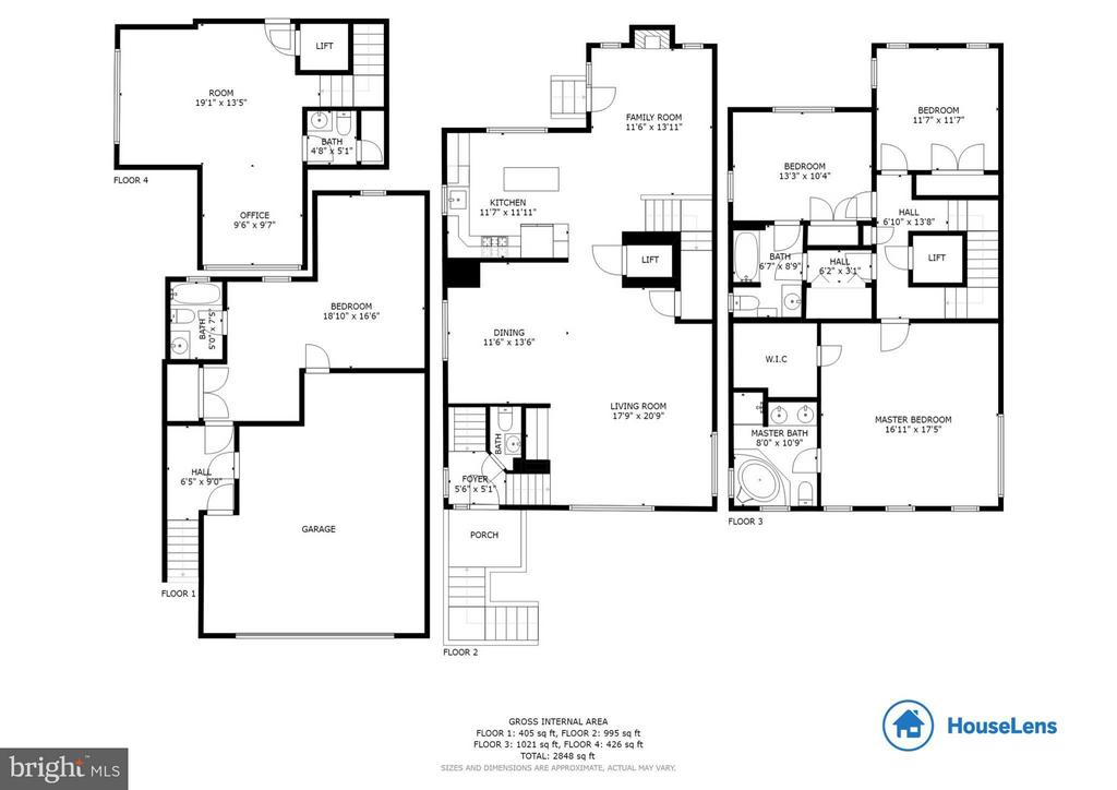 Floor Plans for All Four Levels - 382 MYRTLE PL, OCCOQUAN