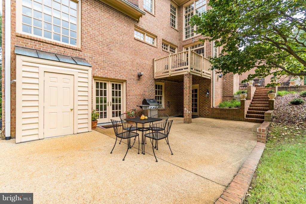 Second terrace w access to in law suite. - 8615 LEE JACKSON CIR, SPOTSYLVANIA
