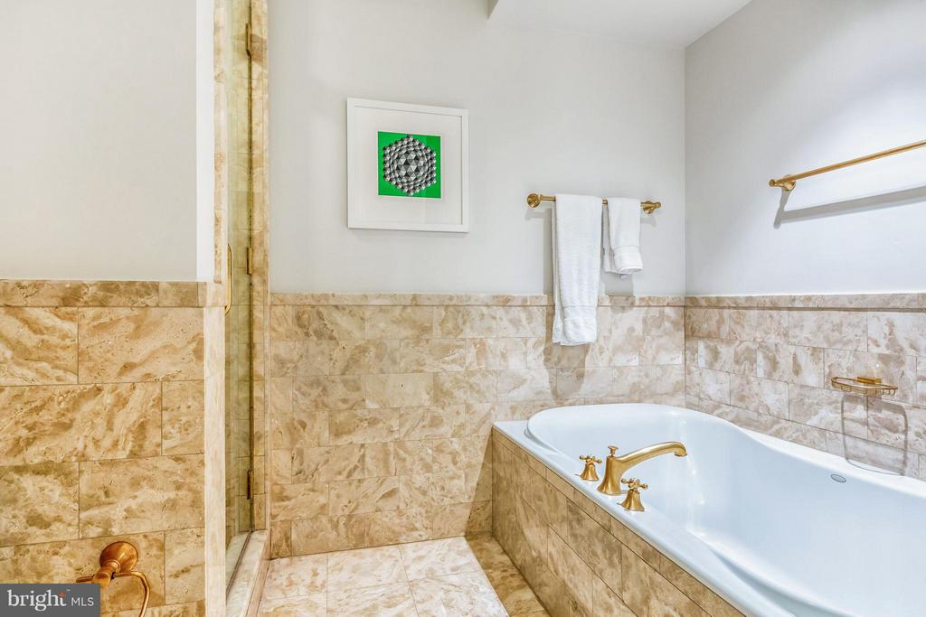 Master Bath with Walk-in Shower and Jacuzzi - 1155 23RD ST NW #4E, WASHINGTON