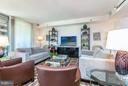 Living Room with floor-to-ceiling windows - 1155 23RD ST NW #4E, WASHINGTON