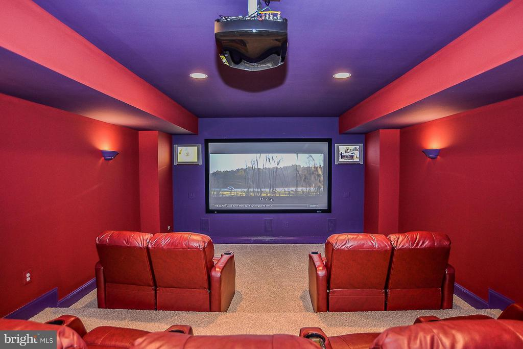 Stadium Seating Movie Room - 41727 PUTTERS GREEN CT, LEESBURG