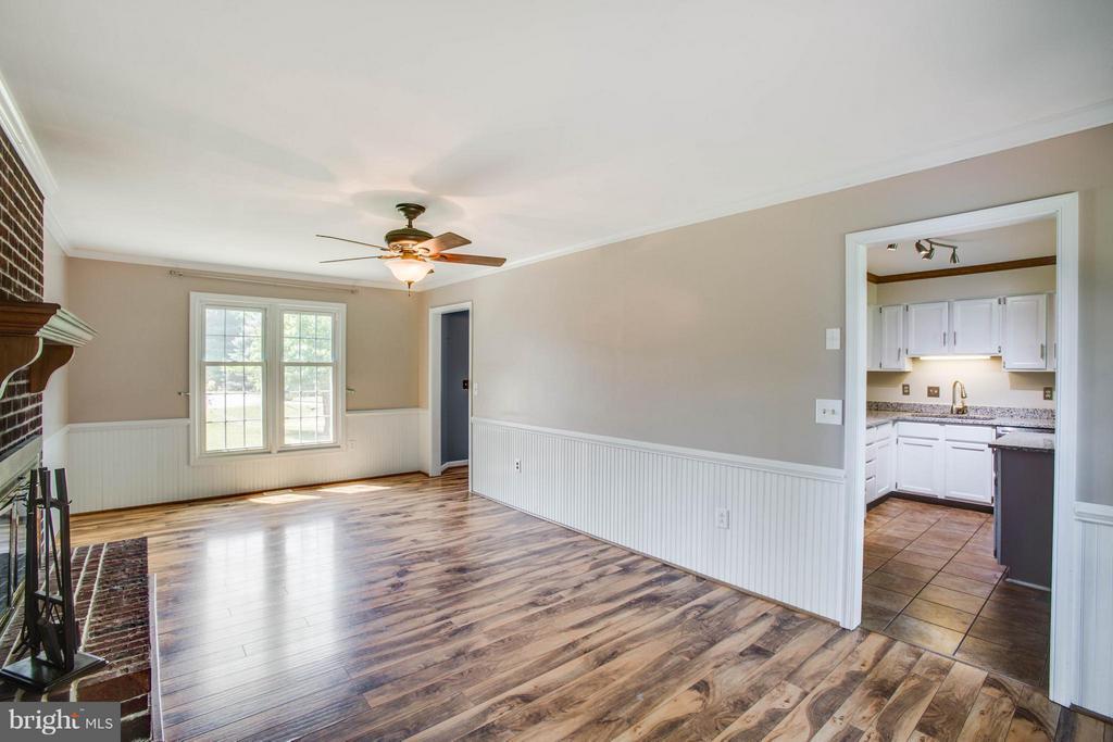 Family Room with Striking Wood Floors - 5 STABLE WAY, FREDERICKSBURG