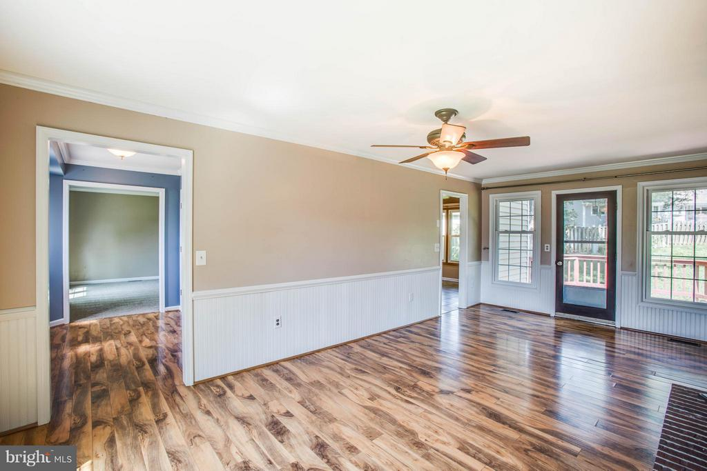 Family Room to Rear Deck - 5 STABLE WAY, FREDERICKSBURG