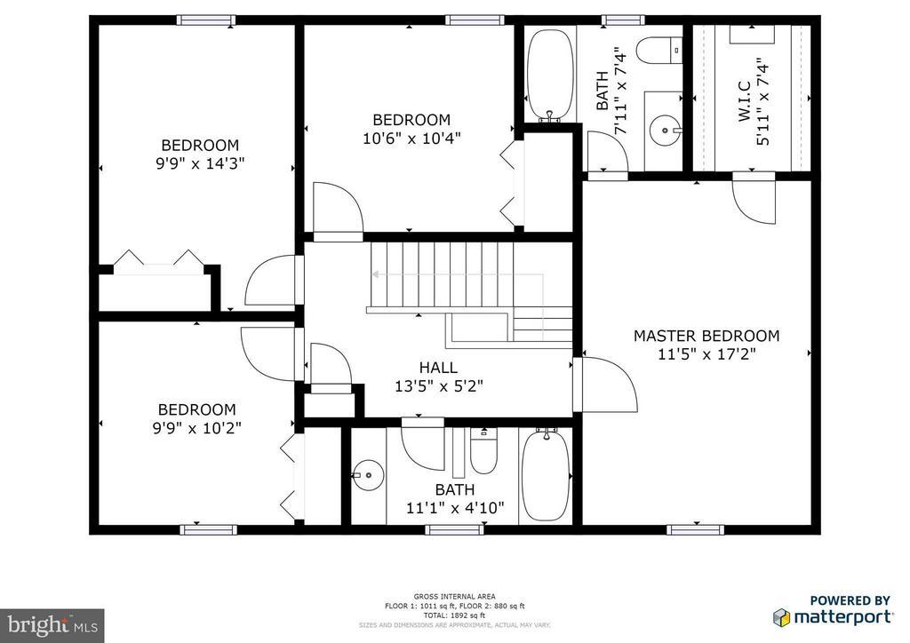 Upstairs Floor Plans - 5 STABLE WAY, FREDERICKSBURG