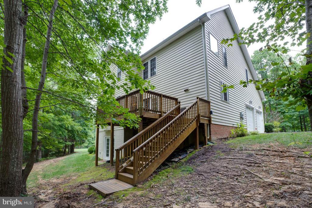 Stairs to deck in rear - 13208 CHANDLER CT, FREDERICKSBURG