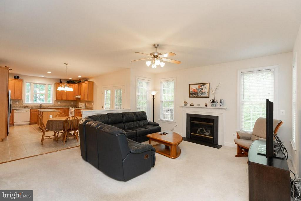 Family Room with fireplace. - 13208 CHANDLER CT, FREDERICKSBURG