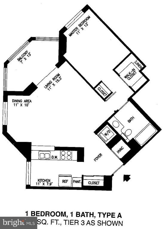 Floorplan - 2151 JAMIESON AVE #1903, ALEXANDRIA