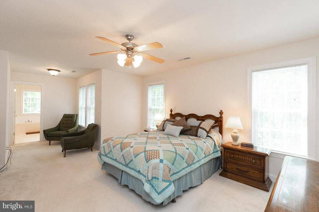 Large master bedroom and sitting area. - 13208 CHANDLER CT, FREDERICKSBURG