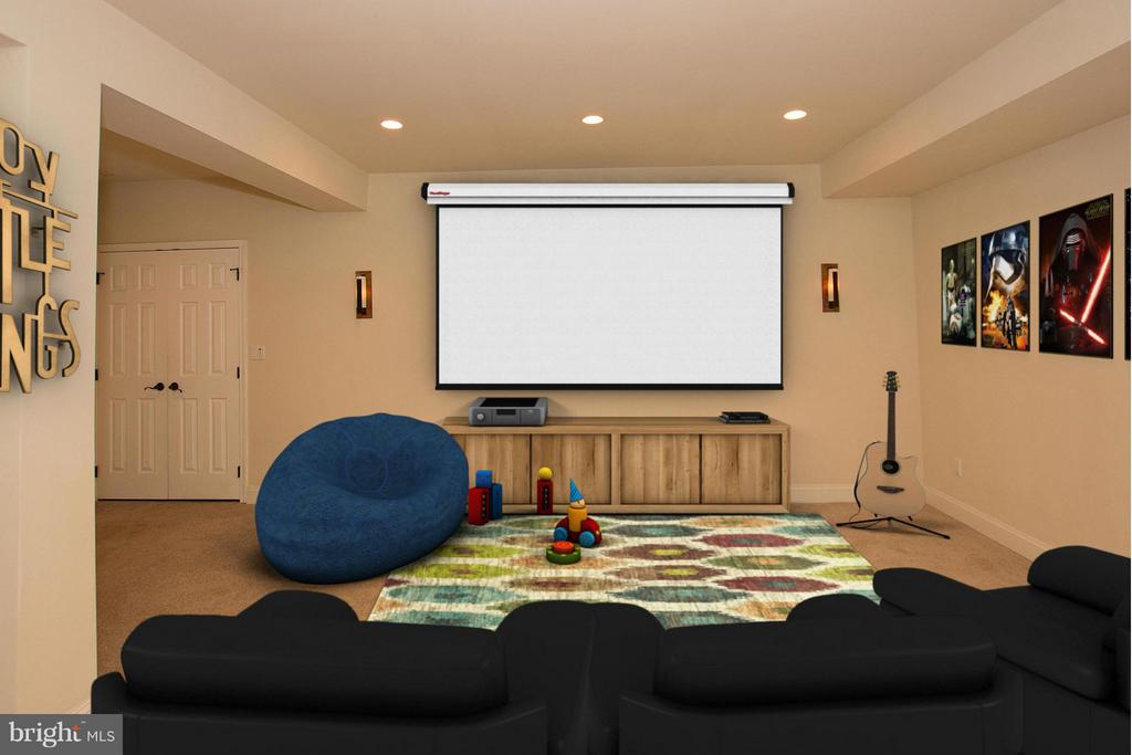 Set up a theater  room for in home entertainment - 38651 RICKARD RD, LOVETTSVILLE