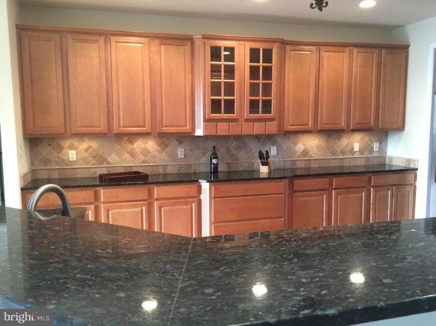 Gleaming granite countertops & breakfast bar - 38651 RICKARD RD, LOVETTSVILLE