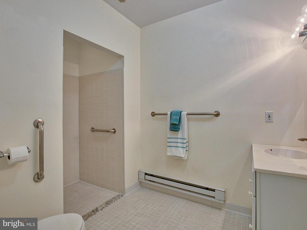 ADA Compliant Tile Bathroom in  the In-Law Suite - 17950 STONELEIGH DR, ROUND HILL