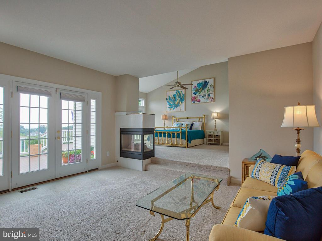 Master Suite: Sitting Area and Vaulted Ceilings - 17950 STONELEIGH DR, ROUND HILL