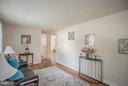 Living Room w/Hardwood Floors - 4109 ANDERSON RD, TRIANGLE