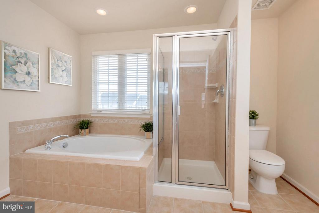 Luxurious Master Bath - 16385 GANGPLANK LN, WOODBRIDGE