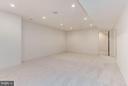 Lower level Rec Room with 10 foot ceilings!! - 3546 UTAH ST N, ARLINGTON