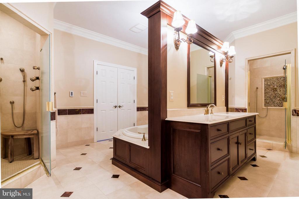 Gorgeous marble flooring, large vanities - 41154 GRENATA PRESERVE PL, LEESBURG