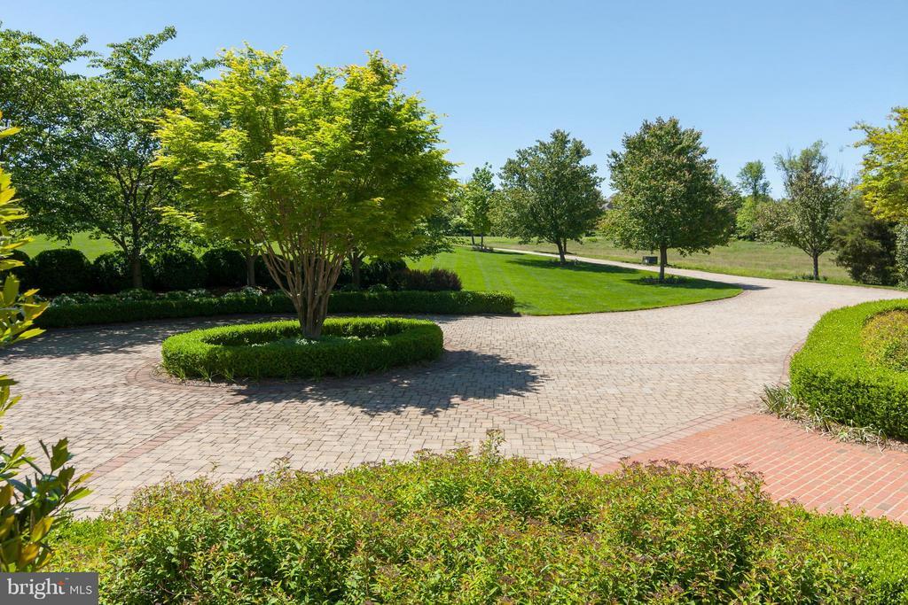Expansive brick-paver driveway with circle - 41154 GRENATA PRESERVE PL, LEESBURG
