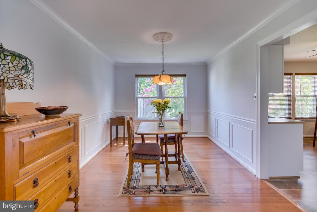 Spacious Dining Room as seen from the Living Room - 5620 BARRYMORE RD, CENTREVILLE
