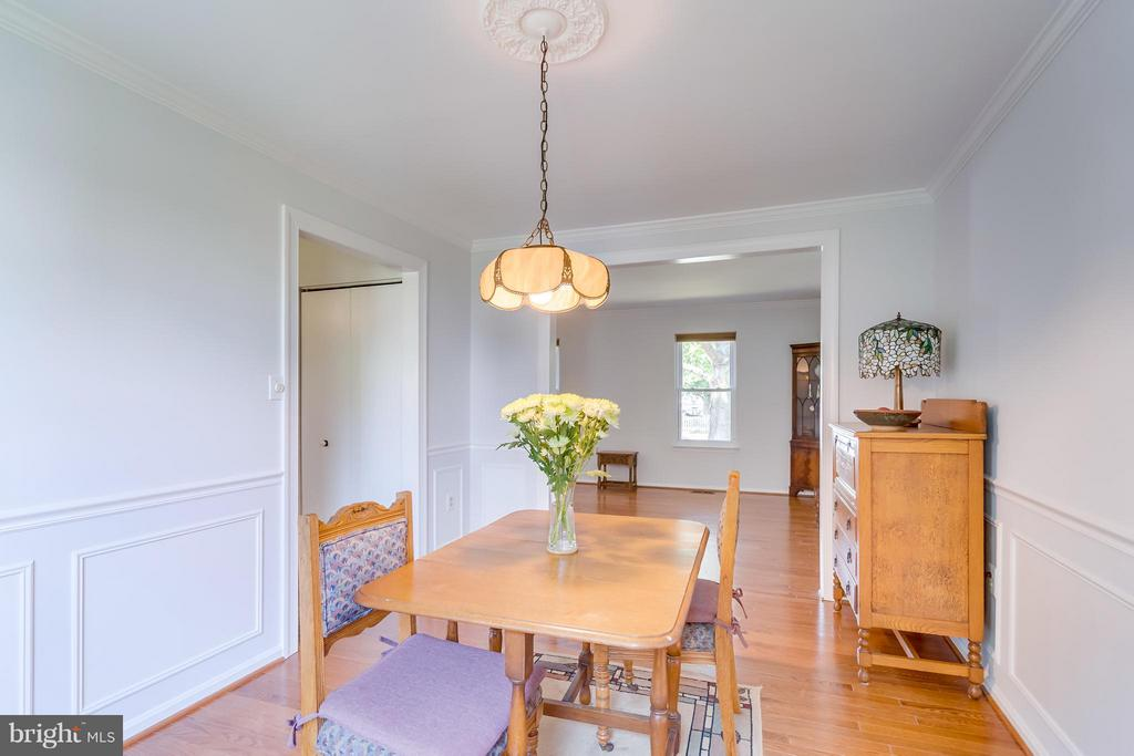 Dining Room - View toward the Living Room - 5620 BARRYMORE RD, CENTREVILLE