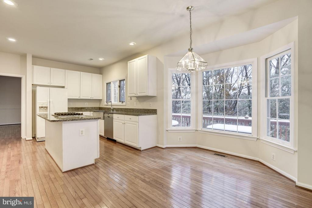 Eat in Kitchen area with Bay Window - 20941 RUBLES MILL CT, ASHBURN
