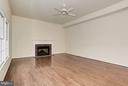 Family Room with Gas Fireplace - 20941 RUBLES MILL CT, ASHBURN