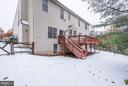 Backyard with Large Deck - 20941 RUBLES MILL CT, ASHBURN
