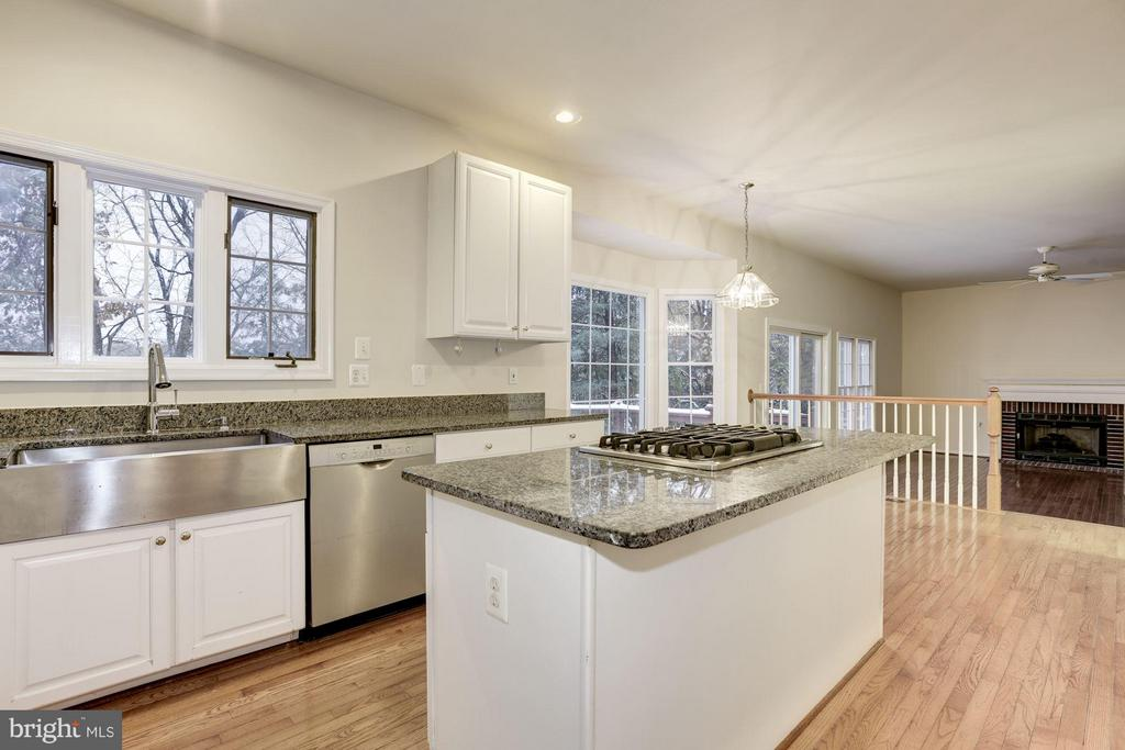 Kitchen with SS Farm Sink - 20941 RUBLES MILL CT, ASHBURN